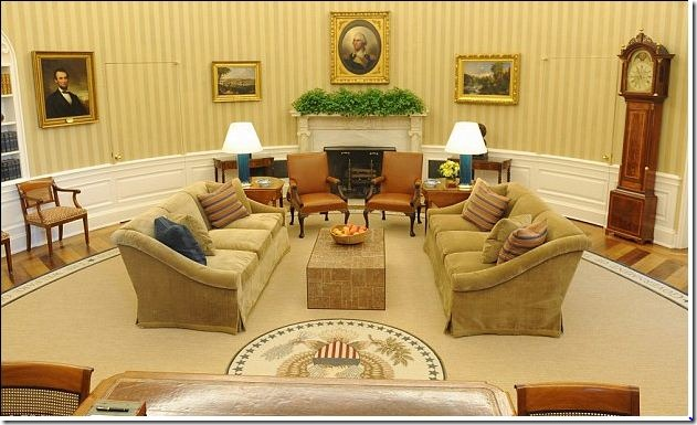 Room of the week president obama s new oval office Oval office decor by president